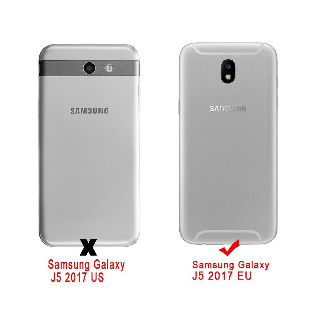 Funda Samsung Galaxy J5 2017 Silicona Carcasas Dibujos Animados Flexible TPU Opaco Ultra Delgado Ligero Goma Caja Suave Gel Anti-Arañazos y ...