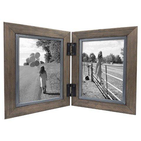 Threshold™ 2 Opening Hinged Windowpane Frame - Coffee 5x7