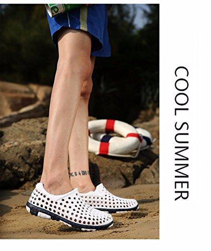 Sommer Das neue Freizeit Sandalen Männer Trend Atmungsaktiv Lochschuhe Rutschfest Strandschuhe Jugend Trendschuhe ,Weiß,US=10?UK=9.5,EU=44?CN=46