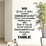 Wandaro W3301 Wandtattoo Wir sind eine Familie... schwarz 58x90cm