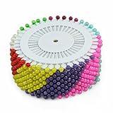 New 480pcs Multi Colour Round-Head Faux Pearl Decorating Pin Dressmaking Pin