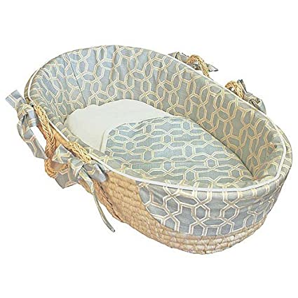 Hoohobbers Moses Basket Pebbles Sky Blue