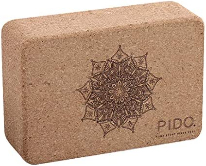 wwww pido Yoga Cork Yoga Block High Density Natural Tasteless Yoga Brick Exercise Fitness Sport Yoga aids