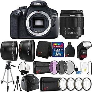 Teds Canon Eos 1300d 18mp Digital SLR Camera 18 55mm Lens Sfd740c Flash and 32gb Accessory Bundle