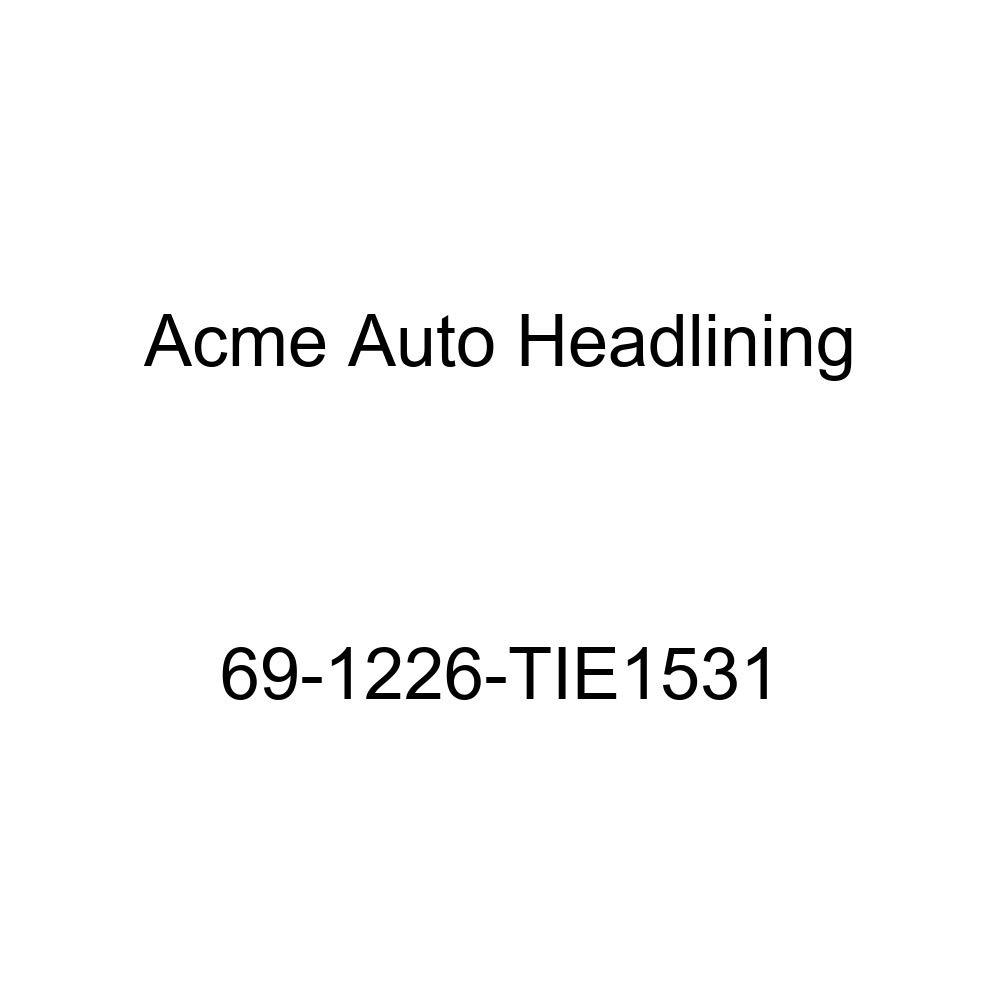 6 Bow 1969 Oldsmobile Cutlass 4 Door Sedan Acme Auto Headlining 69-1226-TIE1531 Chamois Replacement Headliner