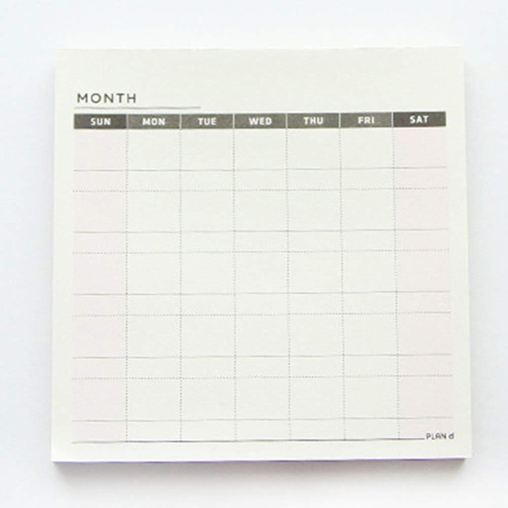blocco note di lavoro blocco note portatile agenda Weekly plan newhashiqi agenda lista settimanale mensile