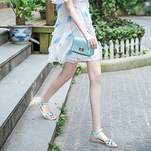 Beige Sandals Shopping Slippers UK7 EU41 Non 255mm Summer Size Female Student L Flat Blue Blue Sandals and White Blue Leisure PENGFEI Color Slip EtpwPqxP