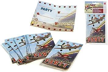 Disney 82994, Pack 10 Invitaciones Fiestas y cumpleaños Planes, Aviones: Amazon.es: Juguetes y juegos