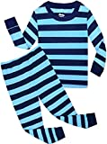 #4: shelry Boys Striped Pajamas Christmas Children PJS Gift Set 100% Cotton Kids Pyjamas