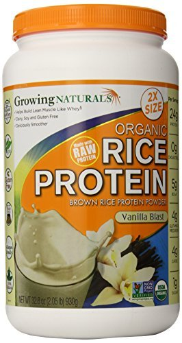 Growing Naturals Rice Protein Isolate - Organic Vanilla Blast 930 grams by Growing Naturals