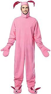 edaeb1be0 Amazon.com: A Christmas Story Adult Bunny Suit Pink Pajama Gag ...