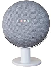 Mount Genie Google Home Mini Pedestal: [[AUS Compatible]] Improves Sound Visibility and Appearance - Cleanest Mount Holder Stand for Google Mini (White)