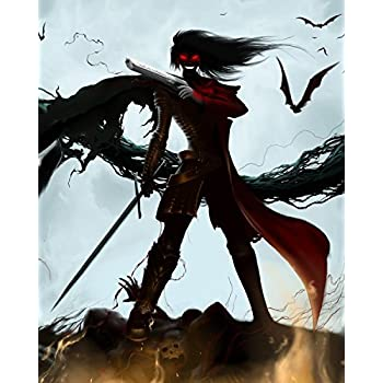Alucard Hellsing Anime Poster HD Canvas Print Wall Scroll Home Decor Cosplay