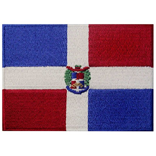 Flag Transfer (Dominican Republic Flag Embroidered Emblem Caribbean Iron On Sew On National Patch)