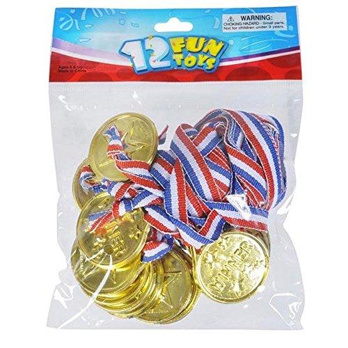 white Laser winner Medals Dozen