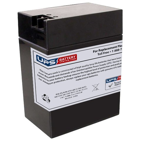 Battery Replacement for Leoch LP6-13FP 6 Volt 14 Ah with FP Terminals - Rechargeable Sealed Lead Acid Battery