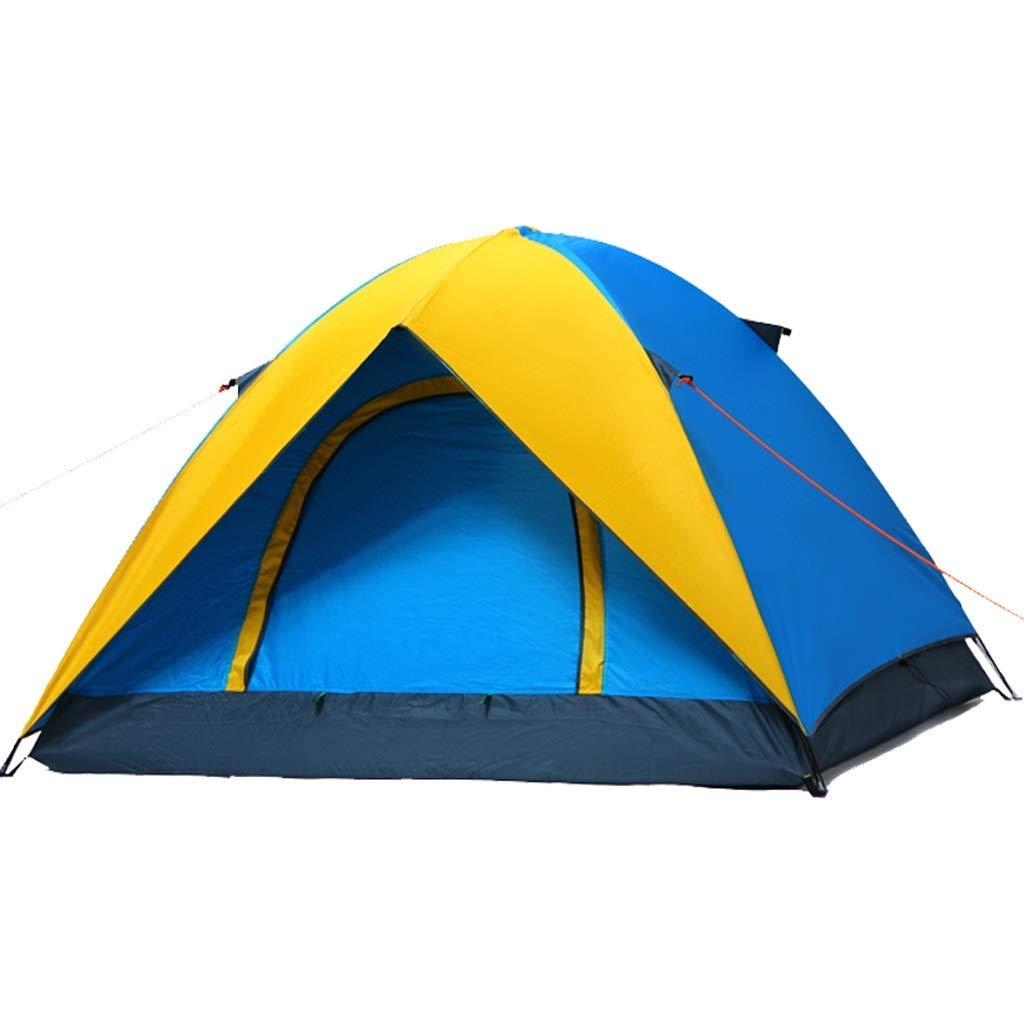 【逸品】 屋外の3-4人の二重テントのキャンプの反嵐のテントのキャンプのテント (色 : Yellow blue) blue) Yellow : blue Yellow B07P5BXXL2, フルビラチョウ:1702fae0 --- ciadaterra.com