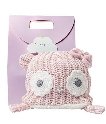 Eriso Little Girl Baby Winter Soft Fleece Hat Earflap Pink Owl