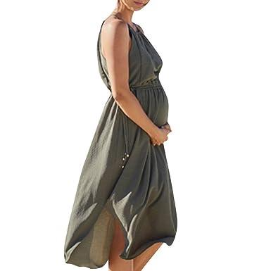 Fuibo V/êtements Robe De Maternit/é /Él/égant Bretelles Robe dallaitement d/Ét/é Grande Taille /Ét/é Mini Jupe Robe pour Femmes Enceintes De Maternit/é Grossesse Robes Pas Cher