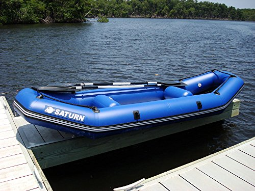 Saturn 12 ft inflatable river fishing raft ducky boat for 12 foot fishing boat
