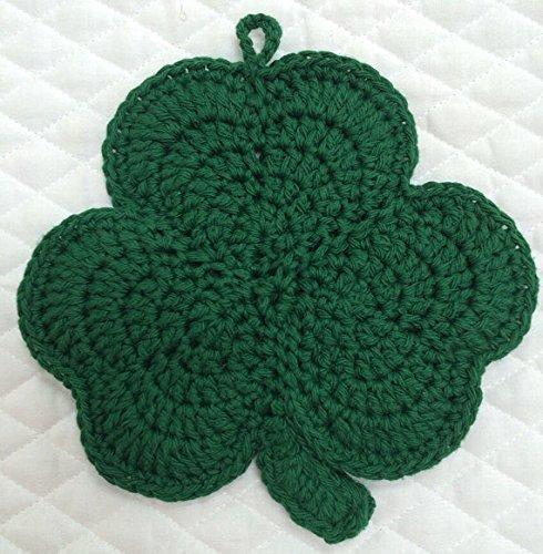 Crocheted Green Shamrock Pot Holder for St Patrick's Day ~ Erin go (Crocheted Pot Holder)