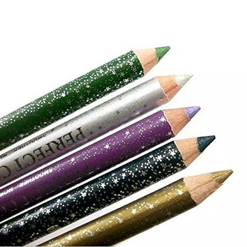 Iebeauty?12 Colors Highlighting Wand Pearl Lip Eyeshadow Eyebrow Eyeliners Plastic Glitter Pencil Pen Cosmetic Makeup Set Kit Shimmer Eyeliner Waterproof Long Lasting With Sharpener¡