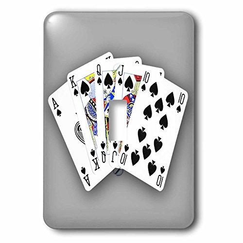 3dRose lsp_218691_1 Poker. Royal Flash. Spade. Grey. Popular Image. - single Toggle Switch by 3dRose