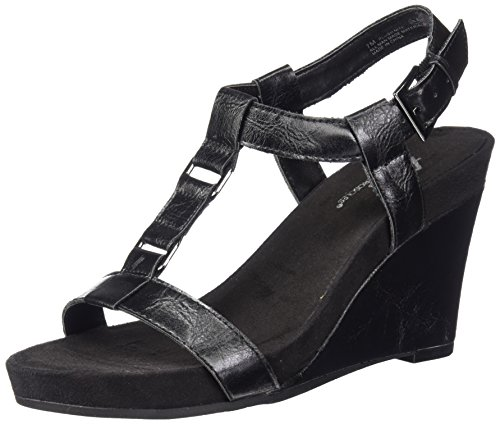 Aerosoles by Women Sandal Nite Black A2 Wedge Plush aHpw8