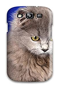 Series Skin Case Cover For Galaxy S3(ash Gray Cat)