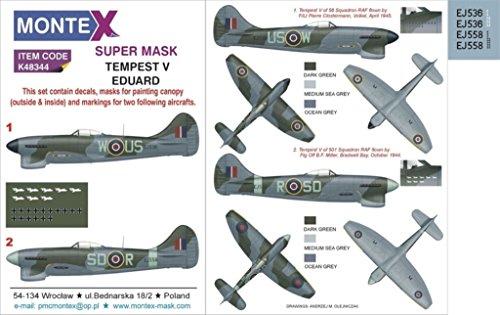 Montex Super Mask 1:48 Hawker Tempest Mk.V for Eduard for sale  Delivered anywhere in USA