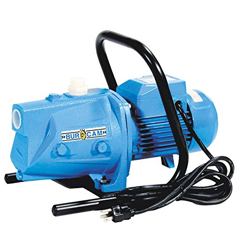 BurCam 506120S  S.W. Cast Iron Sprinkler Jet Pump, 1/2 hp, 115V/230V (1/2 Hp Shall Well Pump)