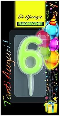 Cereria de Giorgio 5426 _ 66 Vela de cumpleaños número 6 ...