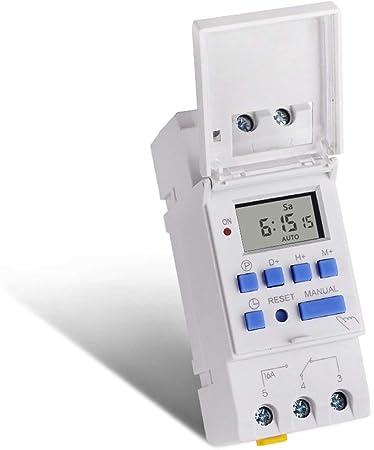 TAOHOU SINOTIMER 220V Weekly 7 Days Digital Programmable Timer Switch Relay Control White