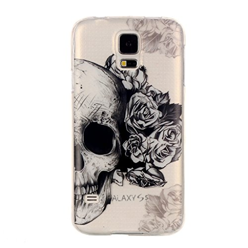 fengus Ultra Slim Soft Silicone TPU Gel Case for Apple iPod Touch 5th/6th Generation Bumper [Cartoon Pattern Designed] Crystal Clear Transparent Cover Protection Back Case-Skull (5th Skull Generations Ipod Case)