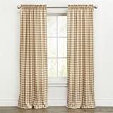 """Best BrylaneHome Home Curtain Panels - BrylaneHome Buffalo Plaid Curtain (Taupe,42"""" W 63"""" L) Review"""