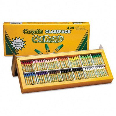 Crayola 52-4629 Crayola oil pastels classpack, jumbo-sized stick w/tapered point, 336/pack