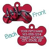Deadpool Custom Pet Id Dog Tag Personalized w/Name