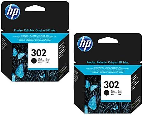 Black Leistung: ca 190 Seiten//5/% 2X Original HP Tintenpatrone F6U66AE HP 302 HP302 f/ür HP Officejet 3830