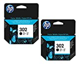 Original HP ink cartridge F6U66AE HP 302 HP302 for HP DeskJet 2130 - black. Output: approx. 190 pages / 5%. (02) 2x Tintenpatrone - Black