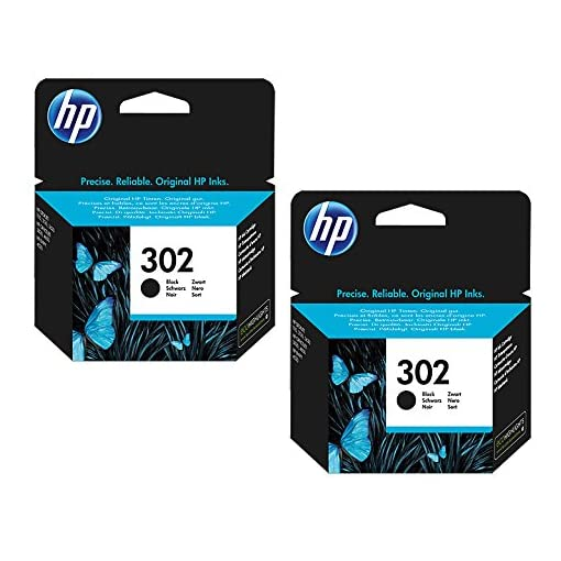 HP 302 Black Original Standard Capacity Ink Cartridges – 2 Pack