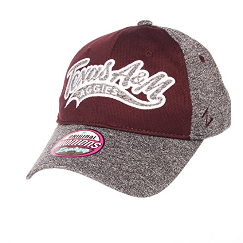 Zephyr NCAA Texas A&M Aggies Women's Tempest Women's Hat, Adjustable, Grey/Team Color