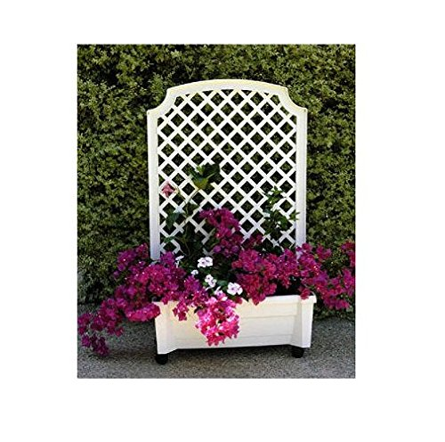 - Exaco 1.416W Calypso Planter with Trellis and Self Watering System