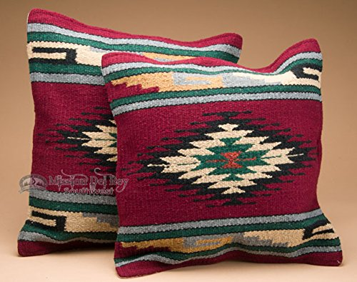Mission Del Rey Old Style Pair of Southwestern Pillow Covers 18x18 - Yuma