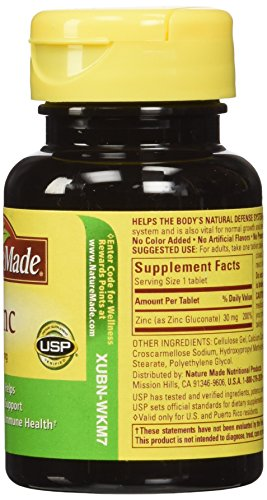 Nature Made Zinc Tabs – 30 mg – 100 ct – Only Best Quality ...
