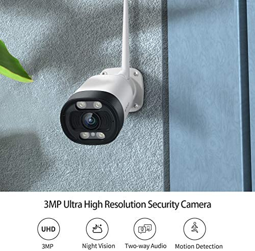 HeimVision 2K Outdoor Security Camera, Wi-Fi Smart Camera with Floodlight, Color Night Vision, 2-Way Audio, Motion Detection, Siren Alarm, Message Alert, MicroSD/Cloud Storage, Weatherproof, HM311
