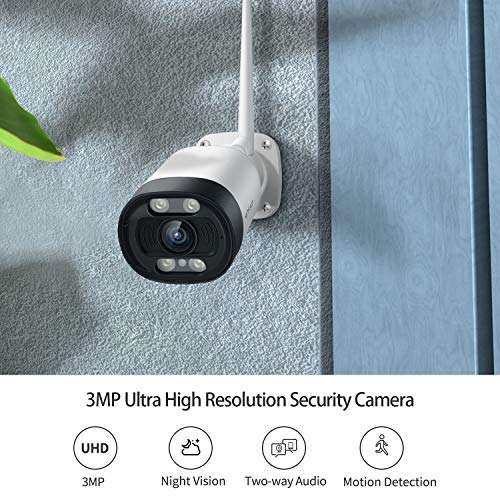HeimVision 2K Outdoor Security Camera, Wi-Fi Smart Camera with Floodlight, Color Night Vision, 2-Way Audio, Motion Detection, Siren Alarm, Message Alert, SD Slot & Cloud Storage, Weatherproof, HM311