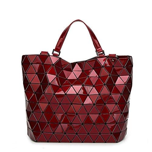 cubo negro plegable informal pequeño las Bolso Red de mujeres la de Large asa Bao de Bolso geométrico bolsa Bao Baobao Casual de Top 0xnS4CRnw