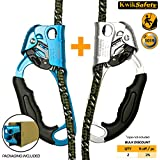 KwikSafety ORANGUTAN Climbing Gear | Chest, Left & Right Hand Ascender & Descender Set | Lightweight Aluminum Alloy Climbing Equipment | Rock Climbing Rappelling Rescue Training Belay Outdoor Sport