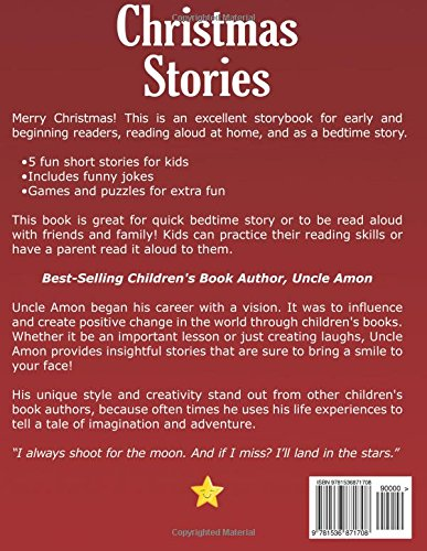 christmas stories fun christmas stories christmas jokes and more christmas books for children volume 2 uncle amon 9781536871708 amazoncom books