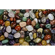KeavensCrystal&Rock - Indian Agate Polished Tumbled Stones used for Jewlery Making, Arts and Crafts, Collecting for Fun, Home and Garden Decor ect. (100g) - (Medium) -